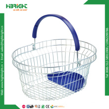 Metal Oval Round Wire Basket for Cosmetic Store