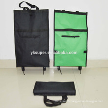 Wholesale trolley shopping bag, customized shopping trolley bag with 2 wheels