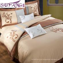 Amostras disponíveis 100% Algodão Seersucker Bedding Set Choice Hotel Bedding
