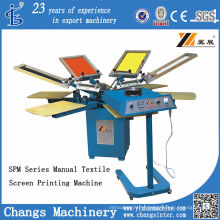 Spm 4-8 Colors Manual T-Shirt/Fabric Screen Printing Machine