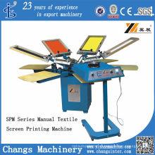 СПМ 4-8 Цветов Ручной Футболка/Печатная Машина Экрана Ткани