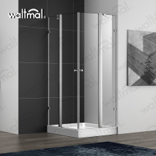 Venda quente Duplo Swing Glass Shower Door