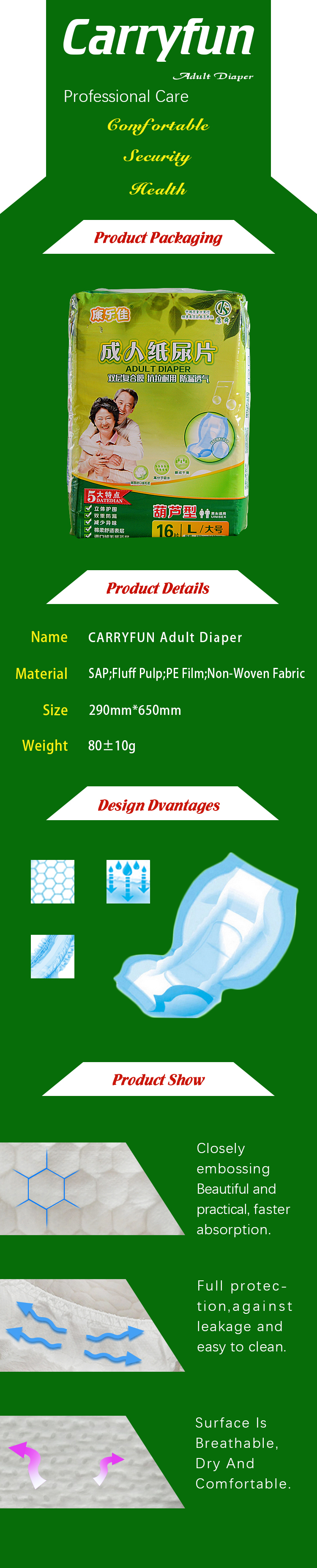 CARRY FUN Diaper Insert-L16