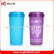 BPA frei, 500ml Plastik Protein Shaker Flasche (KL-7036)