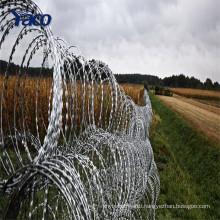 450mm Coil Diameter Concertina Razor Barbed Wire For Sale