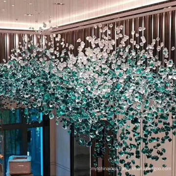 Modern stylish customized hotel glass big project chandelier