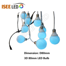 Full Color DMX512 RGB LED Bulb Light