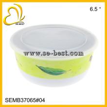 Recipiente de melamina, 5 tigelas de melamina com tampa