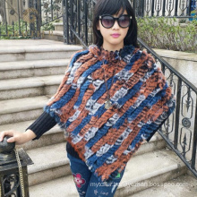 Outstanding manufacture highly stylish rabbit fur shawl