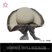 Chapeau de paille de visière chapeaux de voilure de paille chaude