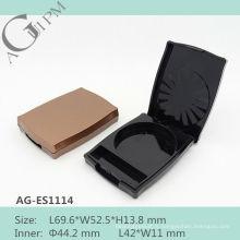 Charmante Special forme rectangulaire ombre à paupières cas AG-ES1114, AGPM empaquetage cosmétique, couleurs/Logo personnalisé