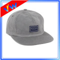 5 Panels Suede Leather Logo Cap
