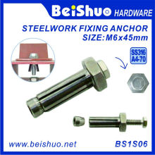 M6*45mm Hexagon Stainless Steel Expansion Bolt / Fixing Anchor