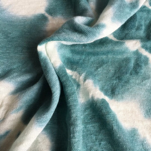 Linen single jersey with tie dyed washing Vintage