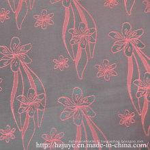Tissu jacquard polyester-viscose pour doublure en vêtement (JVP6355A)