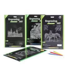 Youth Paper Crafts Engraving Art supplies Scratch Cards