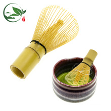 Hand made 100 prongs golden bamboo Matcha chasen whisk
