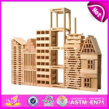 2014 nouveaux enfants blocs de construction en bois jouet, blocs de jouets en bois enfants créatifs, jouets préscolaires bâtiment bébé bloc en bois W13A058
