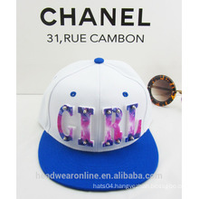 Trendy Custom Plastic Acrylic Girl Color-matching Snapback Caps China Factory