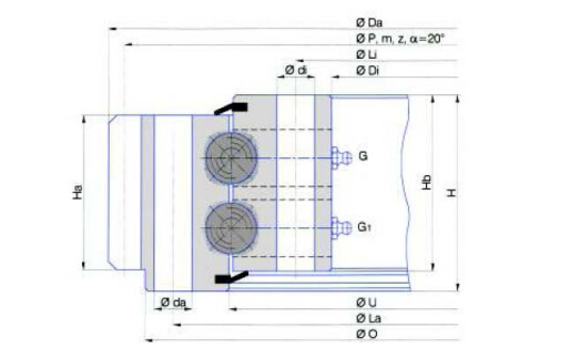 External Gear Type Slewing Bearing