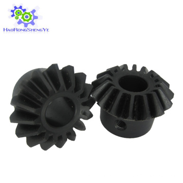 Schwarze gerade Zähne Nylon / Nylon Kegelrad