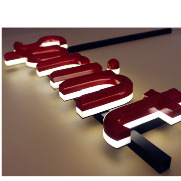Sinal de letras de LED Backlit Metal com Led acender