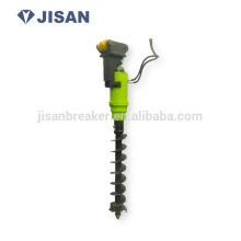 JISAN earth drill auger on mobile crane