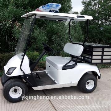 Carro de golf policial Elecric con caja de carga desde China (continental) en venta