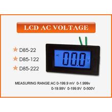Medidor de voltagem do painel digital D85-22 AC