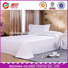 "100% cotton bleached woven satin stripe fabric JC60*40 173*120 110"" 100% cotton satin stripe fabric for home textile and hotel"