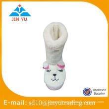 Factory price cute indoor winter plush slipper for kids zapato