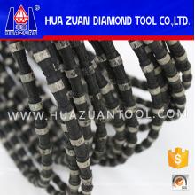 Nouveau fil de diamant en caoutchouc noir pour carrière