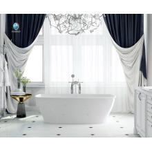 luxo banheiro design resina pedra material não-amarelo indoor imergindo uma pessoa banho quente