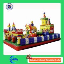 Lona inflable de PVC ciudad de diversión / parque de atracciones inflable