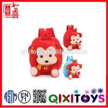 Saco de escola 2016 novas crianças com macaco em forma de brinquedo de pelúcia para crianças backbag