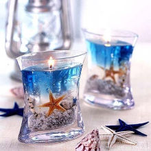 Christmas Sented Glass Jar Aroma Gift Handmade Natural Healthy Gel Candle