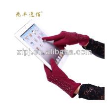 Damen Winter Magic Wolle Touchscreen Handschuhe