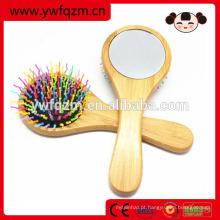 Jogo de escova profissional da composição do cabelo do arco-íris de bambu