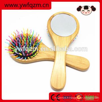Jeu de pinceaux de maquillage professionnel pour cheveux en bambou