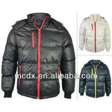 goose down feather jacket for men