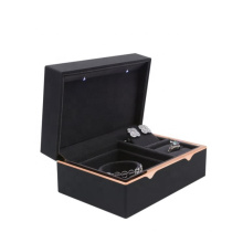 Versatile ring, bracelet and earring storage box High quality jewelry storage box with LED lights