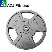 50LB Tri-Grip Cast Iron Olympic Weight Plate