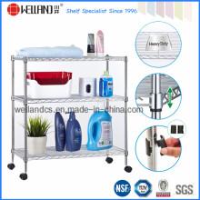 Cromo banheiro metal trolley rack (cj-c1039)