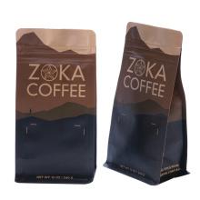 Doypack mit Ventil Kraft Papier Kaffee Taschen