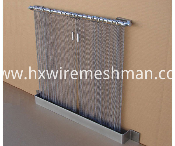 mesh curtain for fireplace