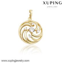 32224 xuping fashion 14k gold chakra pendant
