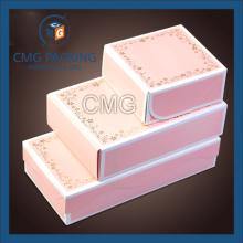 Розовый комплект Подгонянный белый бортовой Box Mooncake (коробка CMG-торта-030)