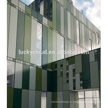 Matériau incassable de panneau composé en aluminium de miroir de 4MM argenté utilisé dans la construction