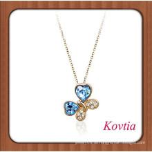 18k Goldkette Halskette Edelstein Blume Carving Alibaba Aktienpreis Blume Halskette