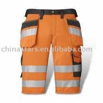 High visibility warming reflective safety pants
